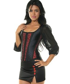 d909fff0e Here we have our best selling black corset with red metallic panels