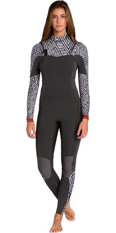 2016 Billabong Ladies Salty Dayz 3/2mm Chest Zip Wetsuit - GEO U43G01