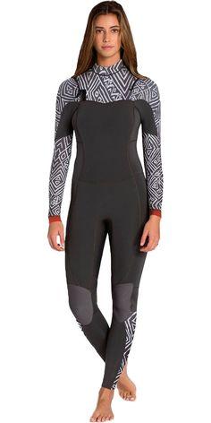 2016 Billabong Ladies Salty Dayz 3 2mm Chest Zip Wetsuit - GEO U43G01 -  U43G01 - - bei Billabong 683b92d81