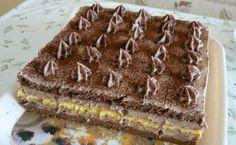 Pokud máte rádi čokoládové pochoutky, tento koláček je ta pravá volba. Mňamka! Serbian Recipes, Czech Recipes, Ethnic Recipes, Hungarian Desserts, Hungarian Recipes, Sweet Cookies, Pavlova, Nutella, Tiramisu