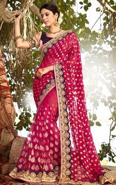 Fabulous Pink Latest Online Saree