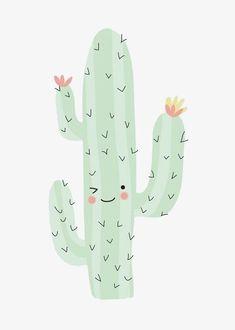 милый кактус, шаблон проектирования, креативный дизайн, милый PNG Image and Clipart
