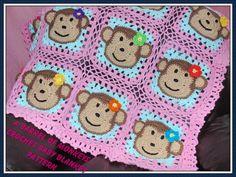 Butterfly Kisses Crochet Baby Afghan or Blanket by creeksendinc