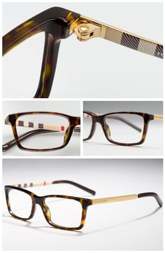 burberry men glasses 8y1m  Melding hues of cream, red and black, Burberry庐 Check lines the temples of  these men's designer glasses from the Trench collection