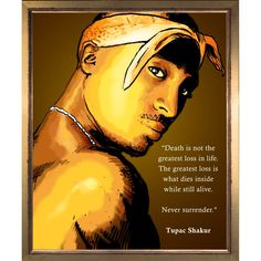ArtistBe Dan Avenell '2PAC' Fine Art Print on Canvas