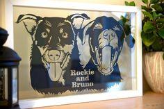 Dog Portrait Papercut (Home Decor)