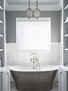 pearl white bathroom tile - Google Search