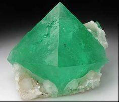 Transparent green Fluorite octahedral - South Africa