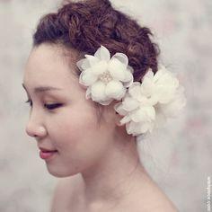 FL1201  Ivory Wedding Hair Flower Bridal Hair by WishPiece on Etsy, $83.00