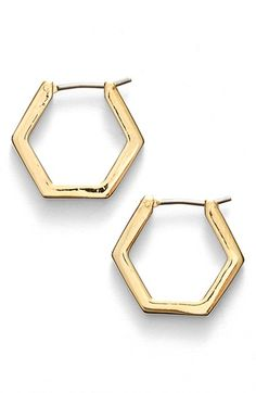 MARC BY MARC JACOBS 'Lost & Found' Small Geometric Hoop Earrings available at #Nordstrom