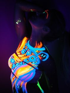 Neon Glow in the Dark Body Paint (6 pack)