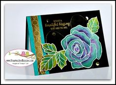 Card #4 in the Stampin UP Rose Wonder Floating Reinker Technique from sandi @ www.stampinwithsandi.com