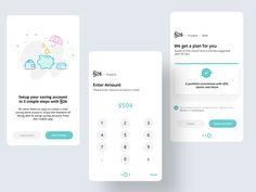 Setup Savings account flow by Prakhar Neel Sharma - Dribbble Mobile Web Design, App Ui Design, Dashboard Design, Interface Design, Flat Design, Savings Planner, Budget Planner, Onboarding App, App Design Inspiration