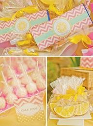 Adorable pink lemonade party