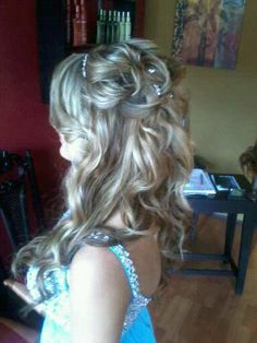 half up half down updo formal prom style  wedding hair hair color for blondes *All About You* Hair by Brandy Bilbrey 615-792-8817