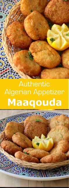 Maaqouda is a potato fritter recipe that is popular throughout North Africa. It … Maaqouda is a potato fritter recipe that is popular throughout North Africa. It is especially prepared during the Ramadan period. Tapas, Plats Ramadan, Tunisian Food, Potato Appetizers, Appetizer Recipes, Algerian Recipes, Potato Fritters, Vegetarian Recipes, Cooking Recipes
