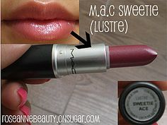 "Another pinner said: ""Mac Sweetie. (A Guide to MAC Lipsticks & Swatches too! Best Mac Lipstick, Mac Lipstick Swatches, Best Lipsticks, Lipstick Colors, Lip Colors, Makeup Dupes, Makeup Goals, Looks Style, Beauty Make Up"