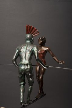 """""""The Encounter"""" - Limited bronze edition of 30.  (From the PERFORMERS series). Artist Francois Viljoen"""