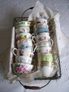 Tea cups #carbootfind #boudoirtealightholders #boudoirstorage