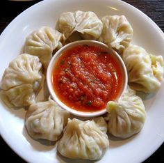 """""""Chicken Momo"""". This is another of those dishes that are hugely popular in some parts of the world: in this case, Nepal"""