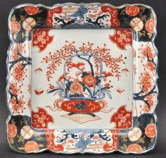 A 19th Century Japanese Imari Square Form Scalloped Dish