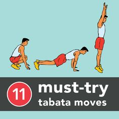 """Tabata Protocol is a system of short, high-intensity intervals developed by Japanese professor Dr. Izumi Tabata to train Olympic speed skaters."" Here are 11 Tabata moves to try!"