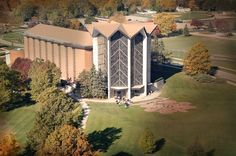 Valparaiso University's stunning Chapel of the Resurrection is a must-see! The amazing 94-ft tall stained glass windows are incredible from the inside when the sun is shining. Plan a trip to see one of the largest university chapels in the country! http://www.indianadunes.com/things-to-do/attractions/?listingid=15430
