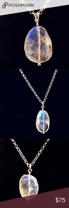 Genuine Rainbow Moonstone Pendant Necklace! Genuine AA Quality Rainbow Moonstone Necklace!! Some say that Moonstone holds the power of mystery. Only within its reflected light can we begin to understand what it has to teach us. Moonstone is foremost a talisman of the inward journey, taking one deep into the self to retrieve what is missing, the parts of the soul left behind or forgotten, then brought to light. (Bundle 3 Listings & Save with my Discount!Shape/size color slightly vary. Jewelry…