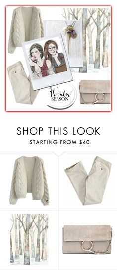 """Winter White"" by jillsjoyagol ❤ liked on Polyvore featuring Chicwish, American Eagle Outfitters, WALL, Chloé and GE"