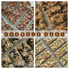 Granola Bar Recipes :: TheMarathonMom