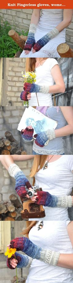 Knit Fingerless gloves, women Mittens Arm Warmer Girlfriend Gift for Her Women Accessories Blue jeans - burgundy, Christmas gift, unique gift, Cosy Multi color winter gloves. Winter Gloves Valentine Gifts for her girlfriend gift for womens Valentines day gift Long fingerless gloves mittens Arm warmers * * Elegant knit mittens, perfect for cold weather and it will complement your image. ** I use a circular knitting, so gloves are without a seam inside. All my gloves come with thumb holes…