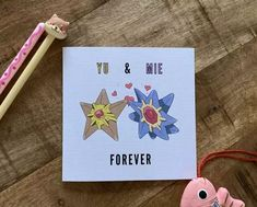 Staryu & Starmie Pokemon Valentine Cards, Valentines, Geek Culture, Nerdy, Birthday Cards, Geek Stuff, Kawaii, Cool Stuff, Poster
