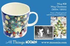 Moomin mug Christmas by Arabia - Moomin Moomin Mugs, Tove Jansson, Finland, Childhood, History, Tableware, Christmas, Anna, Design
