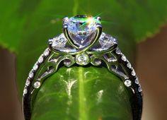 100 carat Round Diamond Engagement Ring 14K by BeautifulPetra