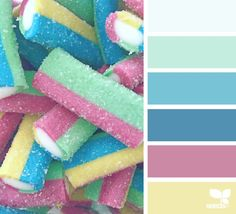 { candied hues } designseeds color palette | candy, minimal, pink, blue, mint