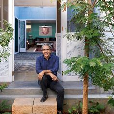 "ARCHITECTURAL HOUSE IN MUMBAI AD50 architect and ""Studio Mumbai"" founder Bijoy Jain's home, tucked into the belly of Mumbai."