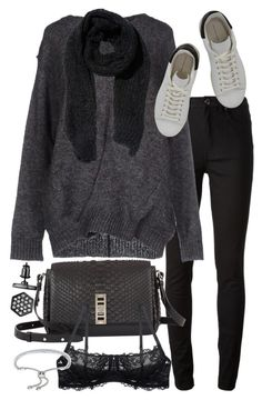 """""""Untitled #19113"""" by florencia95 ❤ liked on Polyvore featuring Acne Studios, Étoile Isabel Marant, Proenza Schouler, Simply Vera, Monica Vinader and H&M"""