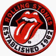 The Rolling Stones Established 1962 Embroidered iron on patch