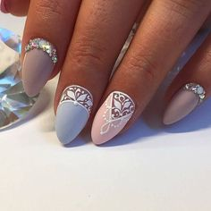 Nail Trends to Try in 2018 - style you 7 Gorgeous Nails, Pretty Nails, Nail Art Arabesque, Ten Nails, Vintage Nails, Nagellack Trends, Short Nails Art, Nails Only, Bridal Nails