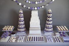 Ombre macarons  EAT DRINK PRETTY: An amazing dessert display