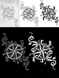 Compass tattoo design - Ashley Blue - adb8.6.13