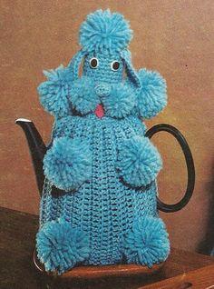 Ha!// 1950's Poodle Dog Tea Cosy Vintage Crochet Pattern PDF 088. $3.75, via Etsy.