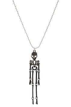 Black Skeleton Necklace