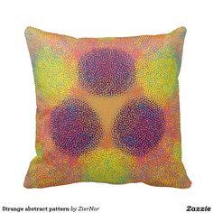 Strange abstract pattern pillow