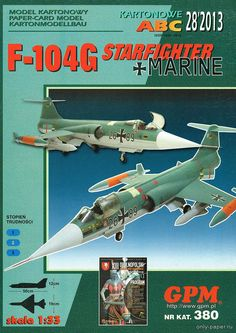 F-104G Starfighter (GPM 380), 1:33 paper model, maybe good for RC 1:16 conversion.