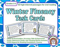 Make fluency practice fun with these winter-themed task cards. Each one features a different high-interest passage. Half the cards are dialogue - great for working in partners. The other half are a mix of narrative and informational text. $