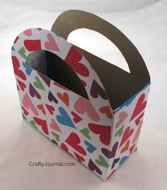 Valentine Holder from a Cereal Box - Crafty Journal