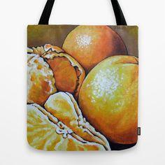 Clementine Tote Bag by Na Liu Cherry - $22.00
