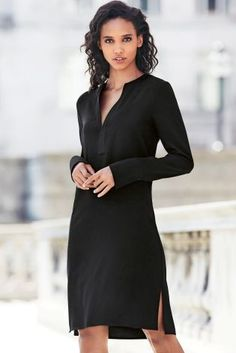Buy Black Crepe Shirt Dress online today at Next: Australia Capsule Wardrobe Work, Party Dresses For Women, Beautiful Dresses, Evening Dresses, Shirt Dress, Shirts, Stuff To Buy, Clothes, Shopping