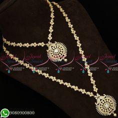 Gold Plated Jewellery Necklace Haram Combo Designs AD Stones Matching Bridal Set Total length of the short necklace is 9 inches inches on both sides). Width of the necklace is 8 mm. Back chain is attached Total length of the long necklace is Short Necklace, Necklace Set, Gold Necklace, American Diamond Jewellery, Diamond Jewelry, Imitation Jewelry, Diamond Design, Bridal Sets, Stone Jewelry